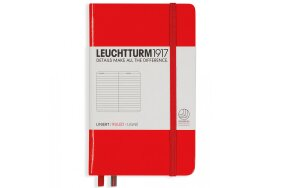NOTEBOOK  LEUCHTTURM POCKET A6 HARDCOVER RULED RED
